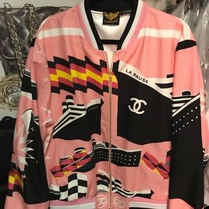Custom-made Chanel Jacket made from Chanel scarf